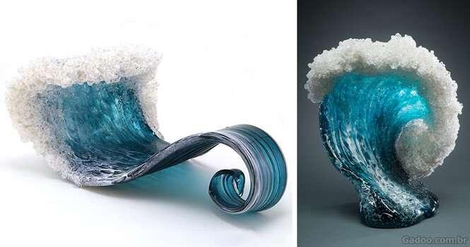 Artistas criam esculturas capturando a força dos mares