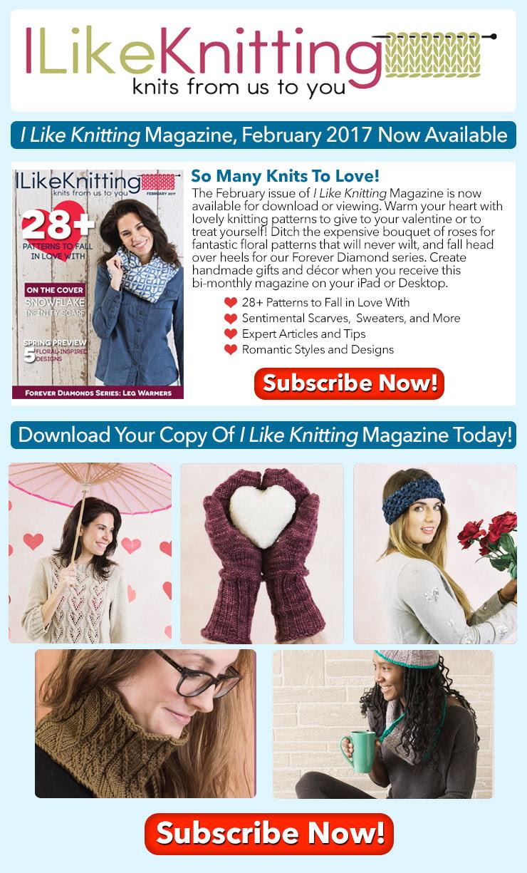 I Like Knitting Magazine, February 2017 now available!