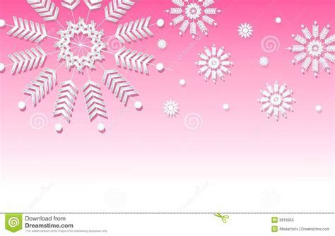 Pink Snowflake Background Border Royalty Free Stock Photo