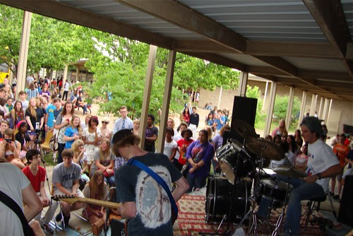 Leadbelly Society performances, Caddo Magnet HS picnic, 4/20 by trudeau