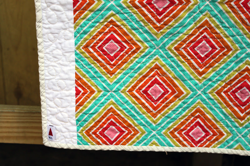 Sparkling Diamonds Baby Quilt