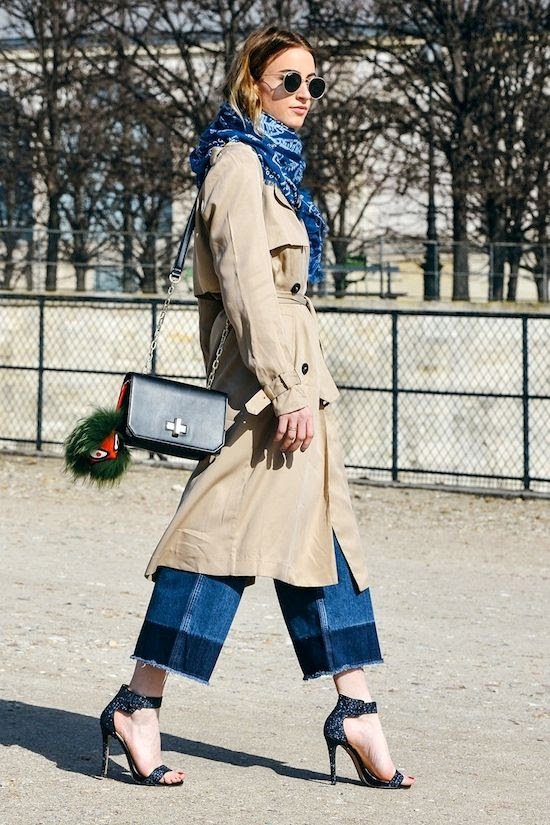 Le Fashion Blog Paris Street Style Blue Bandana Scarf Trench Coat Fendi Fur Key Fob Contrast Jeans Glitter Sandals Queen Of Jet Lags photo Le-Fashion-Blog-Paris-Street-Style-Blue-Bandana-Scarf-Trench-Coat-Fendi-Fur-Key-Fob-Contrast-Jeans-Glitter-Sandals-Queen-Of-Jet-Lags.jpg
