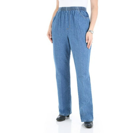 Chic Women's Comfort Collection Elastic-Waist Pants
