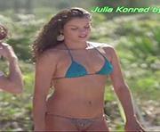 Julia Konrad sensual em biquini na novela Geração Brasil