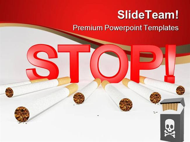 Stop Smoking Health Powerpoint Templates And Powerpoint Background Authorstream