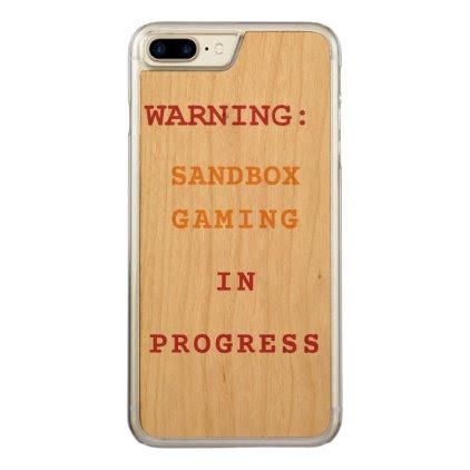 Sandbox Gaming In Progress Carved iPhone 7 Plus Case