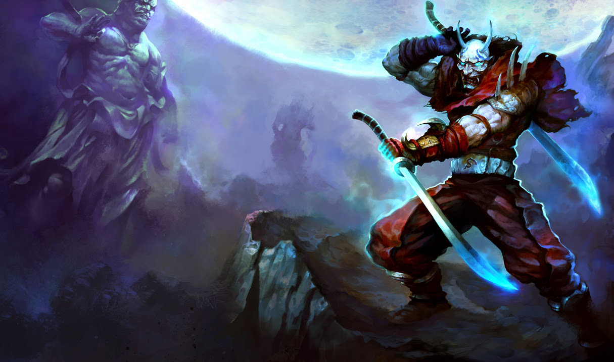 Blood Moon Shen Skin Chinese League Of Legends Wallpapers