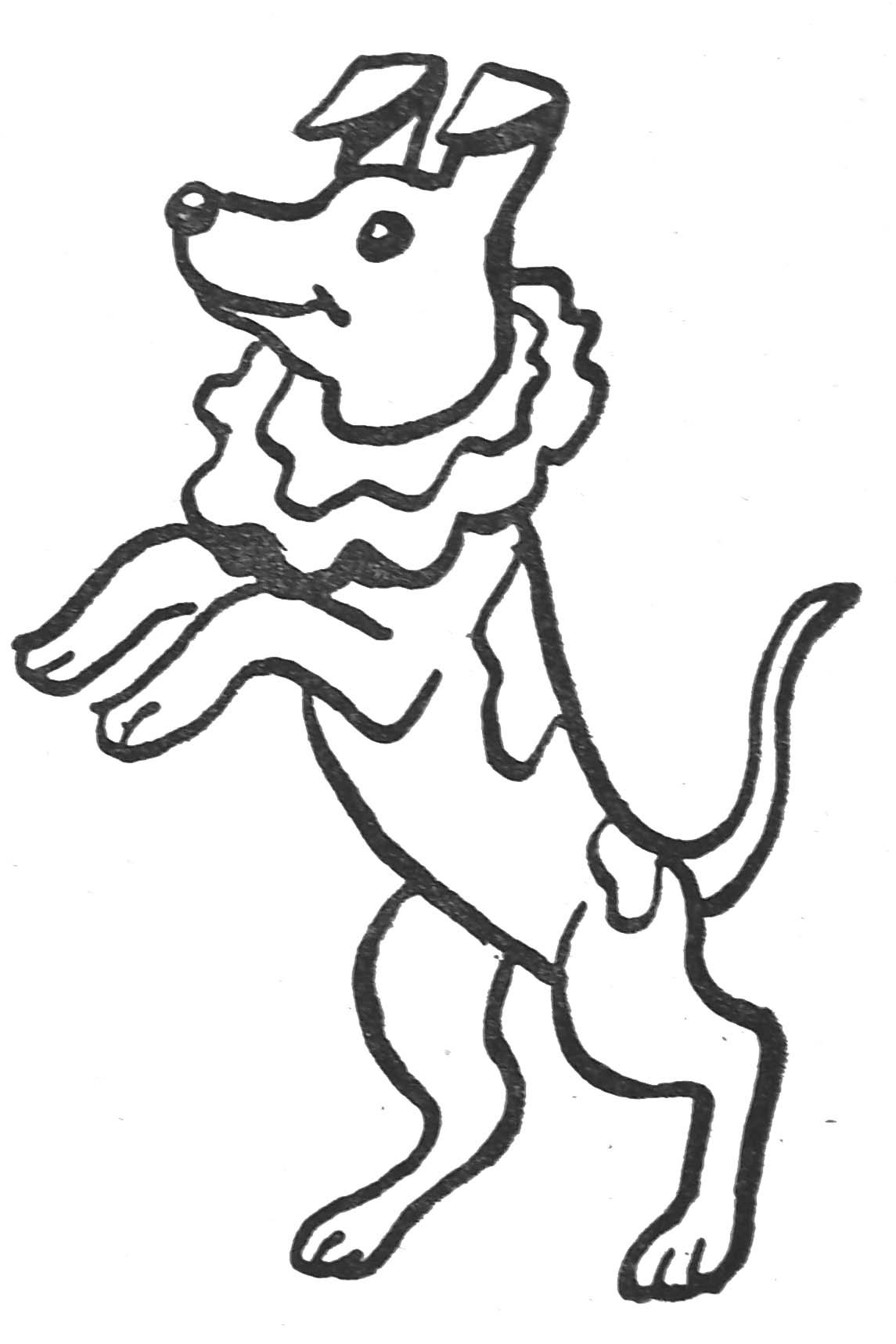 Coloriage le chien savant
