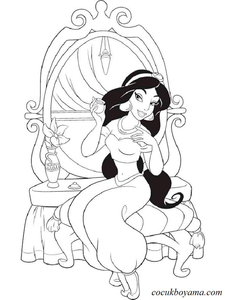 Prenses Yasemin 13 ücretsiz Boyama Resimleri