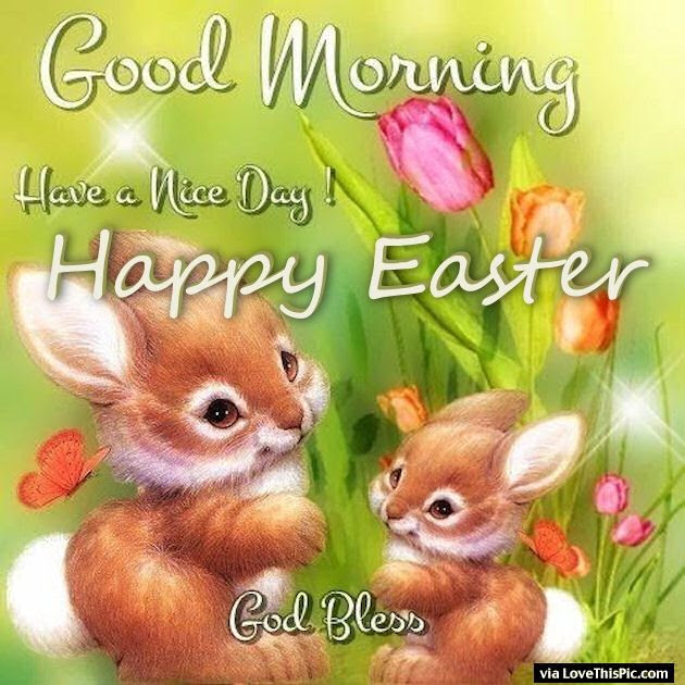 Good Morning Happy Easter Have A Nice Day Pictures Photos And
