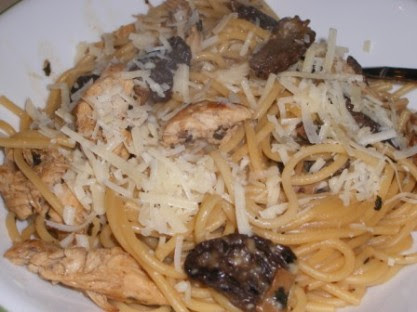 What I did with my Morels: Chicken Morel Pasta