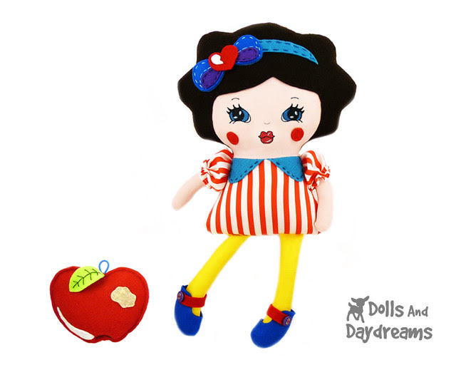 Snow White Princess Sewing Pattern PDF 1 face 1