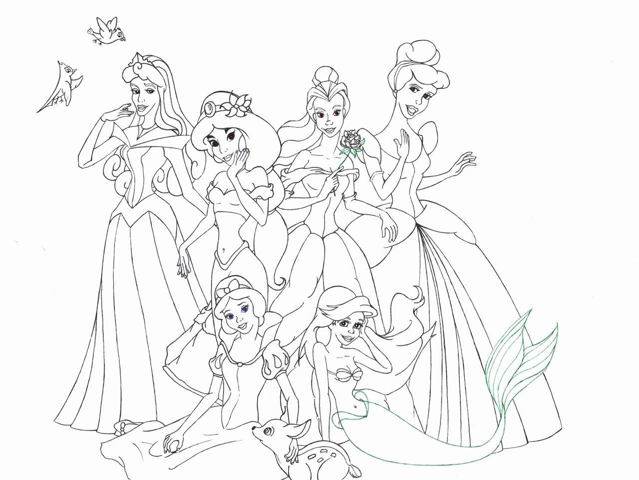 Coloriage204 Coloriage Princesses Disney à Imprimer