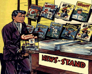 Captain Marvel Junior and his newssstand