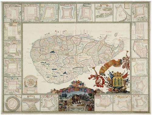 Sri Lanka map (Ceylon - 1751)