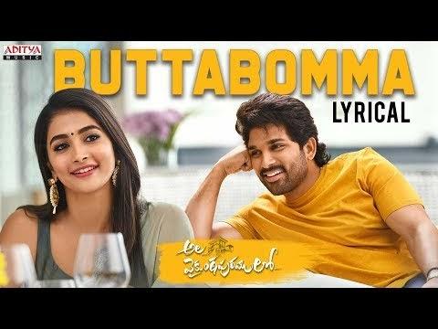 Butta Bomma Video Song {HD} Ala Vaikunthapurramuloo Telugu move Allu Arjun, Trivikram