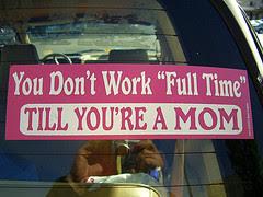 full time mom sticker
