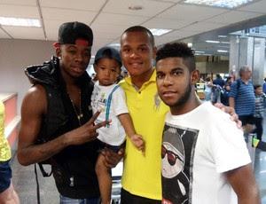 Yguinho, Pedro Henrique e Vítor Hugo, reforços do Alecrim para o Campeonato Potiguar 2015 (Foto: Rodrigo Ciantar)