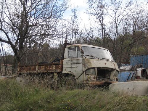 Camió Citroen a Rià (El Conflent)