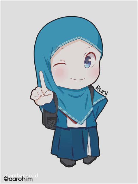 gambar kartun muslimah bercadar bertauhid