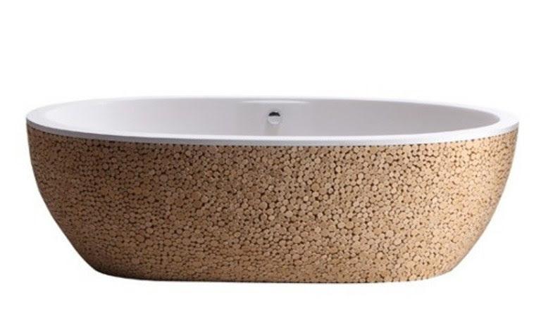 Modern Wooden Beautifully Decorated Bathtub | DigsDigs