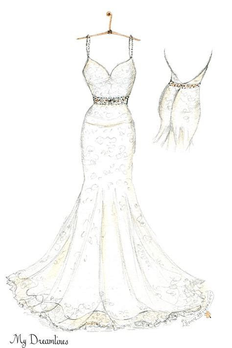 Pin by Wedding Dress Sketch   Dreamlines on A Wedding