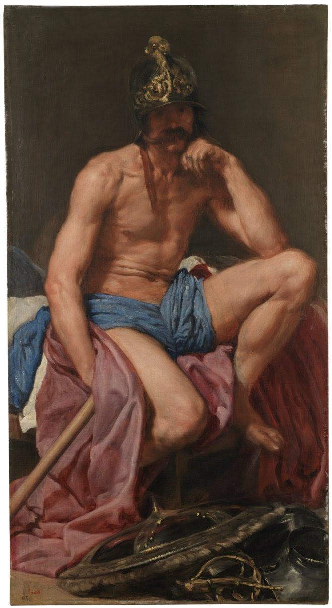 La situación de los refugiados sirios huyendo de la guerra de su país se ha comparado en múltiples ocasiones con la crisis humanitaria que provocó la Segunda Guerra Mundial. La guerra es una constante en la historia que no ha dejado indiferente a los artistas. Uno de los iconos del siglo XX es el 'Guernica' de Picasso, cuya opinión sobre el horror de la contienda está muy clara en el cuadro; la de Goya, otro de los grandes maestros españoles tampoco se pone en duda, solo hay que ver su serie de grabados los Desastres de la guerra. Pero… ¿Y Velázquez?, ¿qué opinaba el pintor sevillano en un momento en que la guerra todavía estaba glorificada? En su 'Marte' (1638), intenta decir lo indecible y hacer como siglos después harían directores de cine como Berlanga, que se la colaban a los censores. Velázquez representa a un dios de la guerra como un hombre en actitud melancólica que de su armadura solo conserva el yelmo y apoya con desgana el bastón de general. Una guerra musealizada en ocasiones, si no ¿qué son las visitas al campo de concentración de Auschwitz? Pero estos referentes son necesarios: conocer el pasado para no invocar a los horrores de la guerra en el futuro. Siempre que haya múltiples lecturas. Desde el museo de León, y en un ejercicio de abordar las historias traumáticas, proponen a quienes pernoctan en el Parador de la ciudad, el Hostal de San Marcos, recordar que ese edificio fue antes uno de los campos de concentración más crueles de la Guerra Civil.