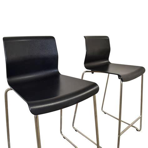 ikea ikea black  metal bar stools chairs