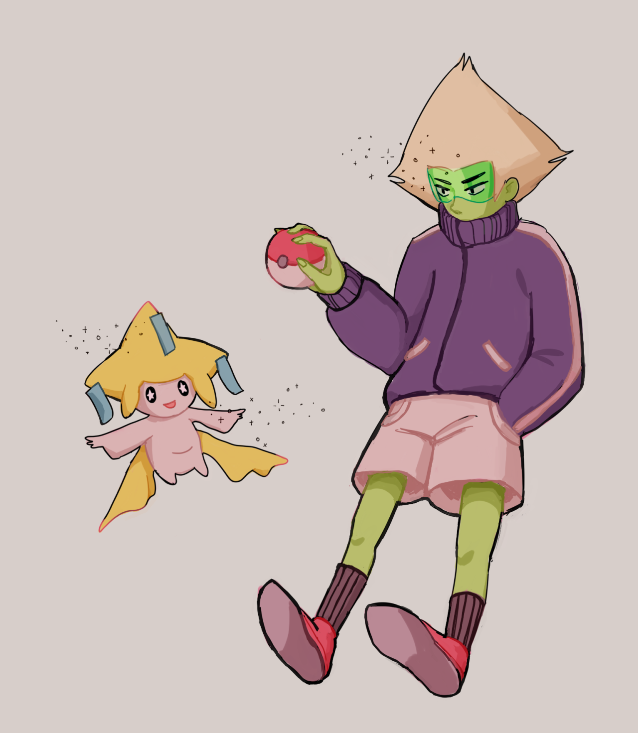 "@folkdevil asked "" draw peridot *gun* """