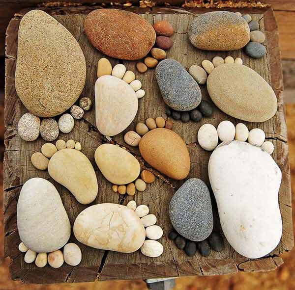 Stone Art Painting Family