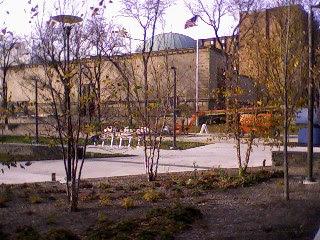 Photo of historic & refurbished Buhl Planetarium flag pole