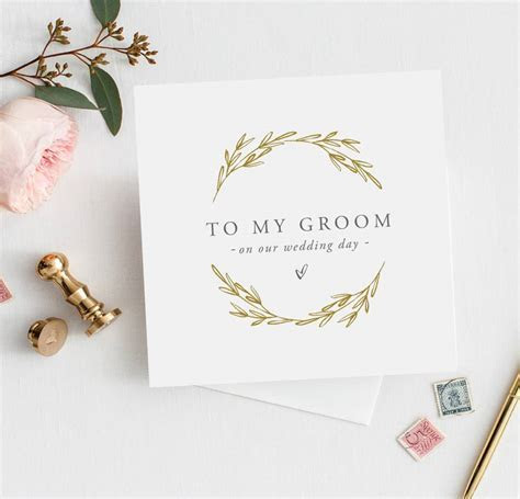 to my groom wedding card   wedding day card by sweet pea