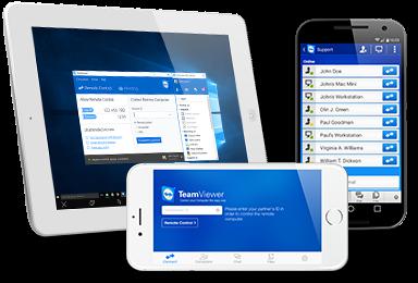dispositivos móviles: TeamViewer ejecutable mediante iPad, iPhone y Android Samsung Galaxy S2