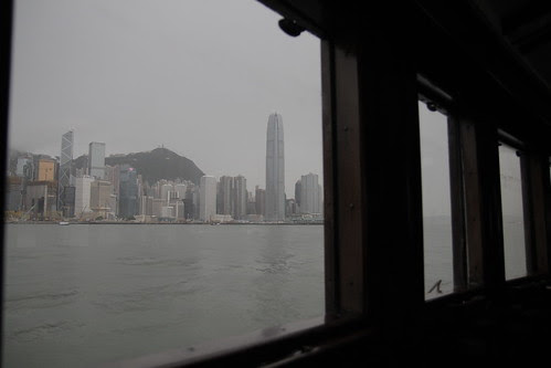Looking out through the ferry window