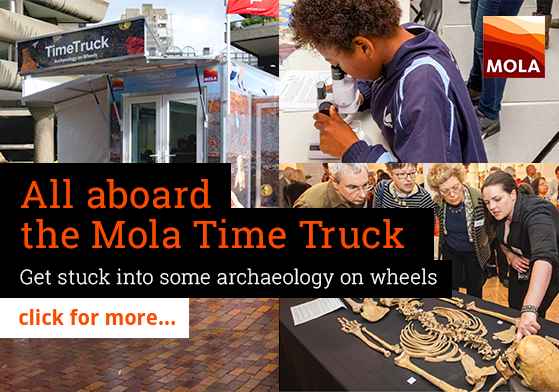 All aboard the Mola Time Truck. Get stuck into some archaeology on wheels
