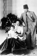 King Farouk , Queen Farida and daughter