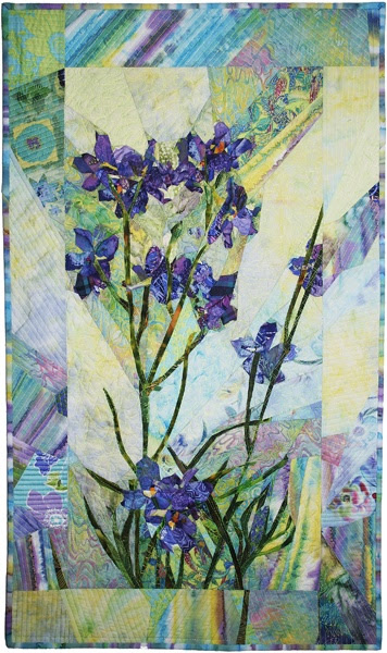 blue butterfly delphinium by Margo Fiddes