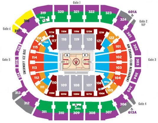 Acc Seating Map Raptors Acc Seating Map Raptors | Color 2018