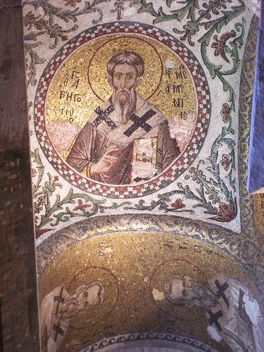 antique mosaique de saint Photios le Grand