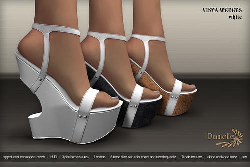 DANIELLE Vista Wedges White