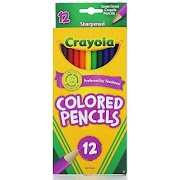 Crayola Colored Pencils, 12ct - Multicolor, Green/Purple/Yellow/Red