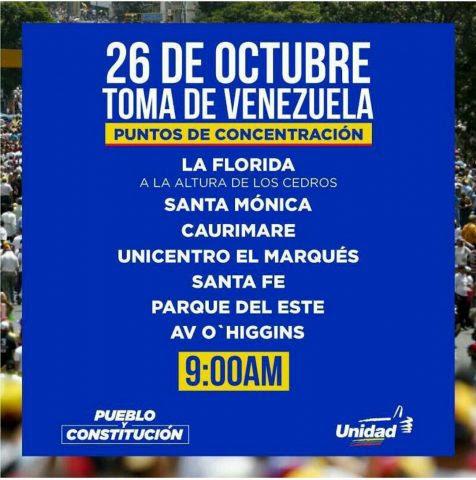 Venezuela es Caracas para la derecha venezolana