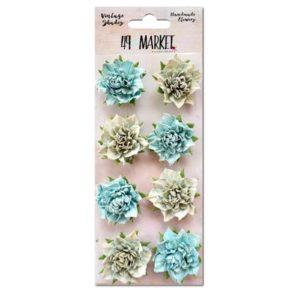 Vintage Shades - Blue Blossoms