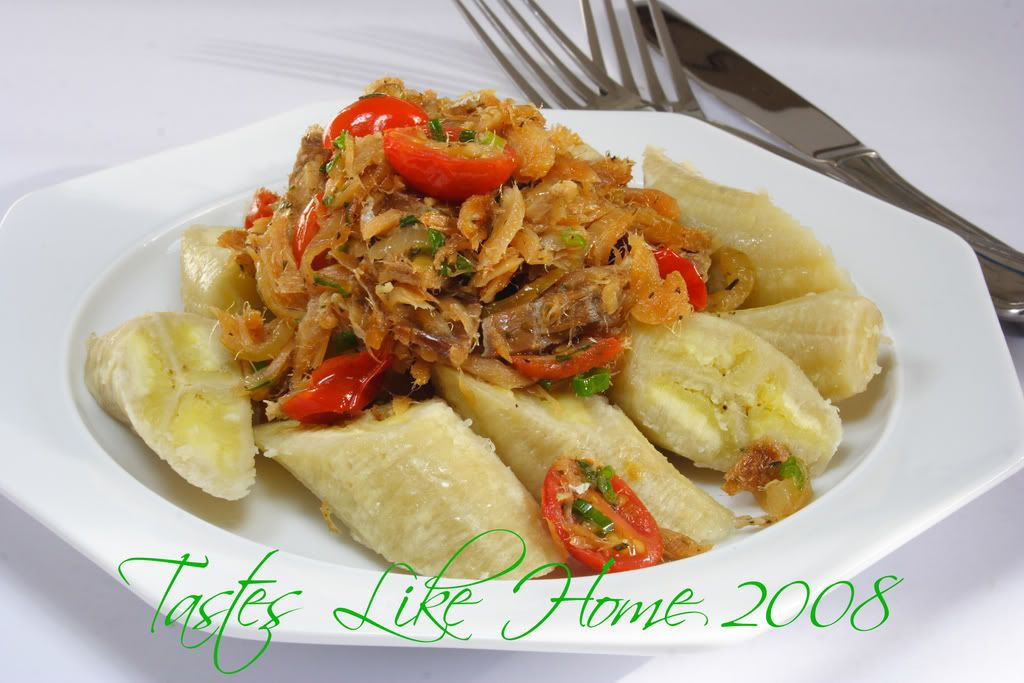 Green Bananas & Salt fish