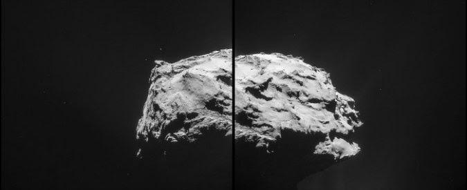 """Rosetta """"bacia"""" la sua cometa, l'Esa pubblica la prima foto"""