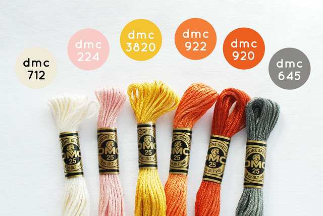 DMC colors to match Moda's Twenty Three fabric line