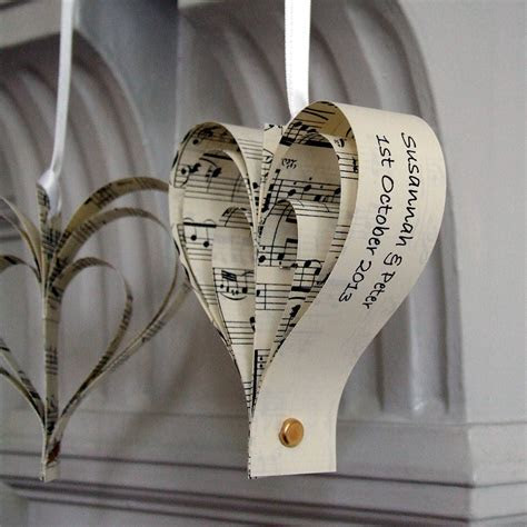 handmade personalised heart decoration by made in words