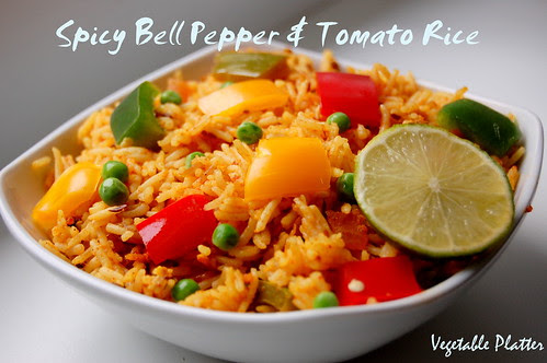 Spicy Bell Pepper & Tomato Rice