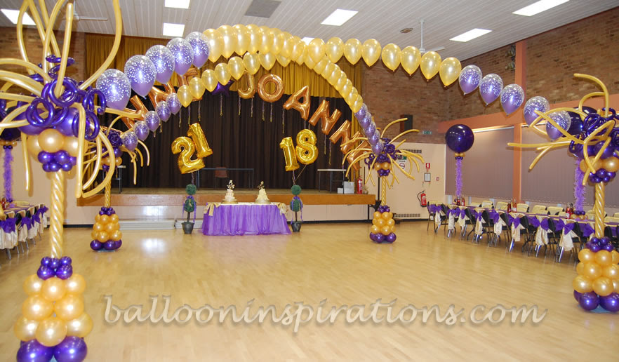 18th And 21st Birthday Party Decorations Ballooninspirationscom