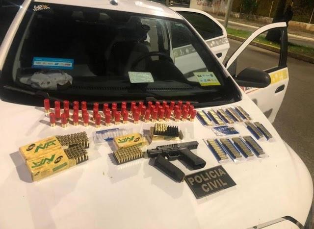 Taxista que transportava armas e munições de Irecê para Ilhéus é preso
